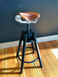 Dalfred stool with Brooks saddle - IKEA Hackers