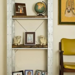 Metal Kitchen Shelves Ikea White Chairs Thrifted Ivar Transformed Into Reclaimed Industrial ...