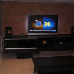 Bookshelf In Living Room Sears Chairs Built-in Besta Entertainment Center - Ikea Hackers ...
