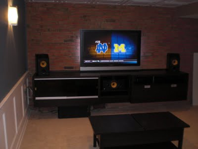 Built In Besta Entertainment Center Ikea Hackers Ikea Hackers