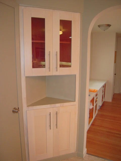 custom kitchen cabinet doors outdoor bar glass insert in ikea coner - hackers