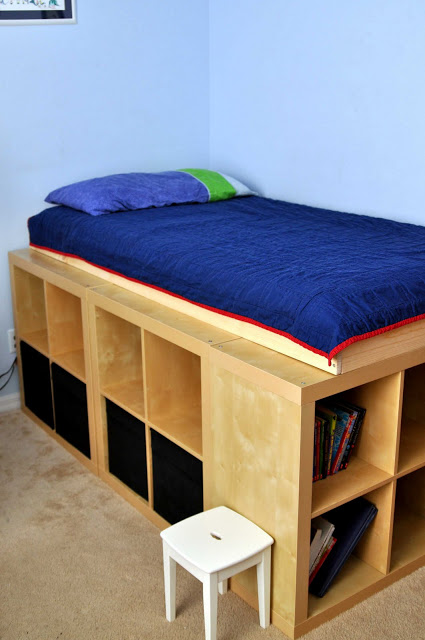 Awesome Expedit storage bed