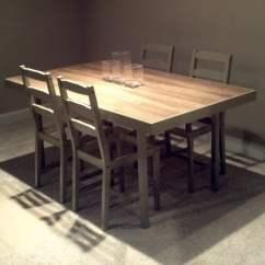 Ikea Kitchen Table Top Shelf Display Ideas Crate & Barrel Inspired Jokkmokk Rebuild - Hackers