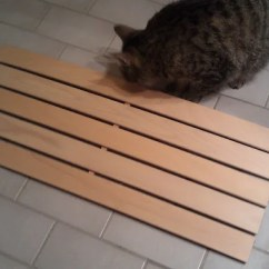 Kitchen Table With Storage Cabinets Speed Racks For Wooden Bathmat/duckboard - Ikea Hackers