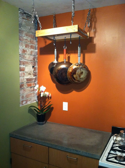 outdoor kitchen cabinets stainless steel discount a simple hanging pot rack hack - ikea hackers