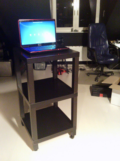 Standing Workplace Triple Lack Side Table Rolling
