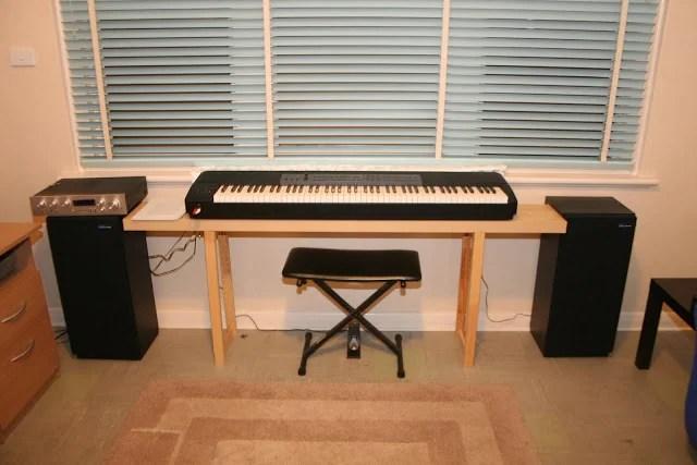 Lacked A Piano Bench So Made A Lack Piano Bench Ikea