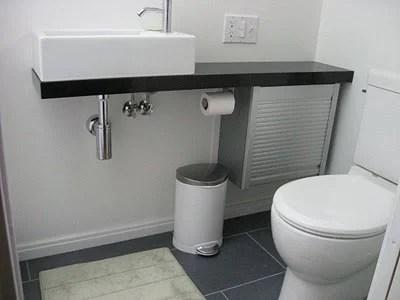 Elegant Bath Vanity from Appliance Cabinet