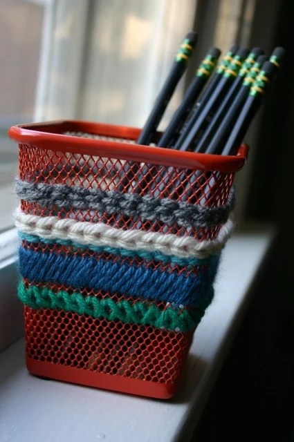 Needlepoint Pencil Cup Ikea Hackers
