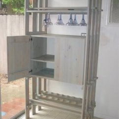 Ikea Solid Wood Kitchen Cabinets Tall Faucet Ivar Freestanding Wine Rack And Cabinet - Hackers