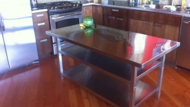 portable kitchen island sink covers stainless steel cart - ikea hackers ...
