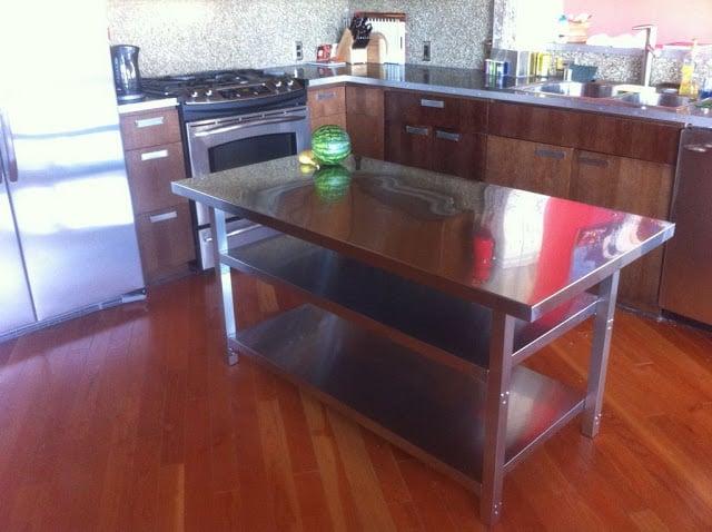 Stainless Steel Kitchen Island Cart Ikea Hackers