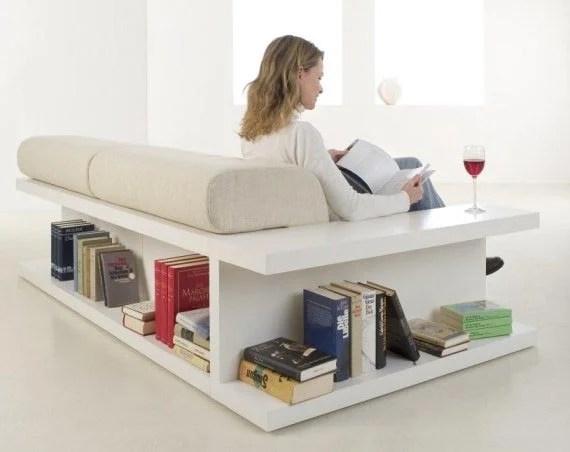Hacker Help Sofa with builtin storage shelves  IKEA