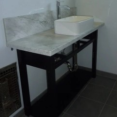 Ikea Kitchen Sink Accessories Island With Seating Norden Sideboard Hacked Into Bathroom Vanity - ...