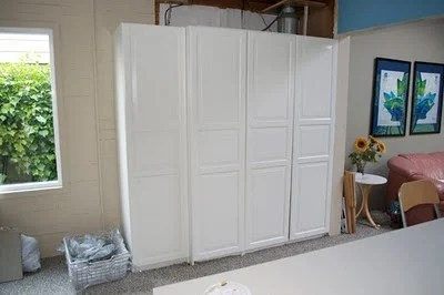 ikea kitchen cabinet doors white carts to hide the boiler and fuse box - hackers ...
