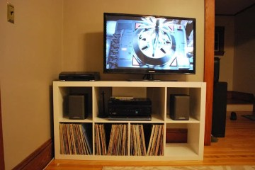 Expedit Media Center For Flat Tv Ikea Hackers