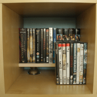 Minimalistic DVD rack in an Expedit - IKEA Hackers - IKEA ...
