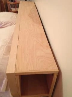 King Size Malm Bed With No Headboard Storage Solutions