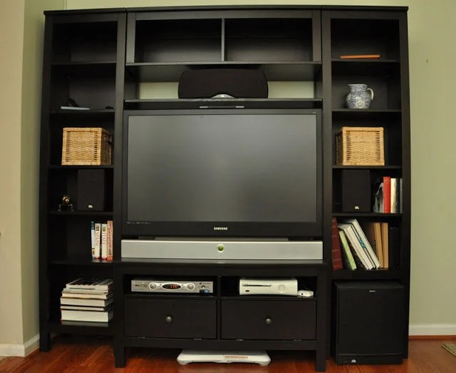 Custom Hemnes Entertainment Center Ikea Hackers