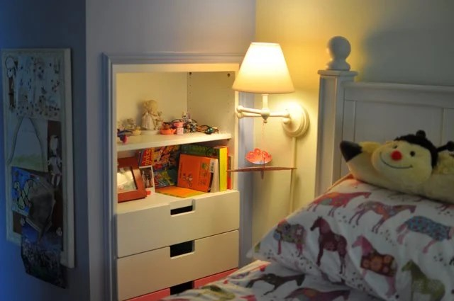 Space Saving Stuva Storage Closet And Shelf Inset Into