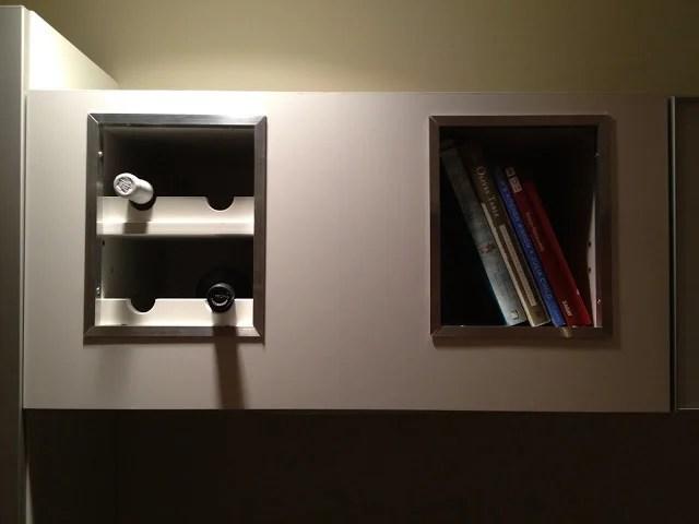 Horizontal vent hood wine rack  bookshelf mash up  IKEA