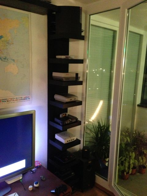 LACK Video Console shelf with hidden cables  IKEA Hackers
