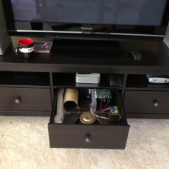 Tall Living Room Cabinets 4 Accent Chairs In Subwoofer A Drawer - Ikea Hackers