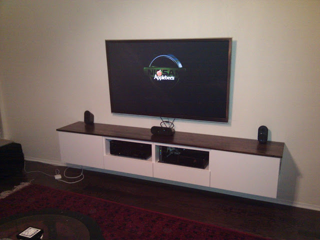 tv wall mount designs for small living room colour schemes rooms grey besta floating media center - ikea hackers