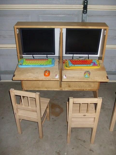 Kids Shoebox Dual Computer Cabinet  IKEA Hackers