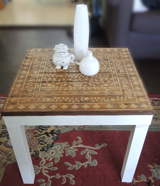 Awesome From a Lack table to a sweet little stenciled one