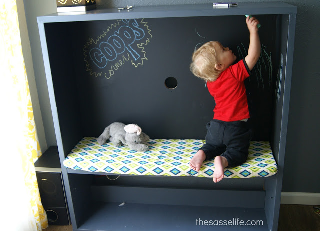 grey furniture living room decor ideas with black leather bestÅ tv stand turned kids corner - ikea hackers ...