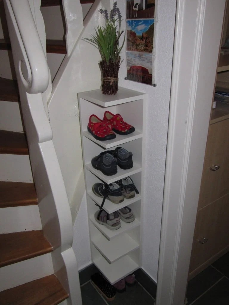 Shortened Lill 197 Ngen Children S Shoe Rack Ikea Hackers