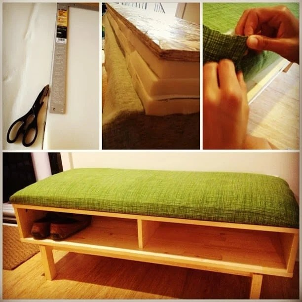 shoe bench from ikea entertainment center ikea hackers. Black Bedroom Furniture Sets. Home Design Ideas