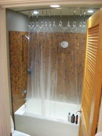Hack a Ceiling Track for Shower Curtain