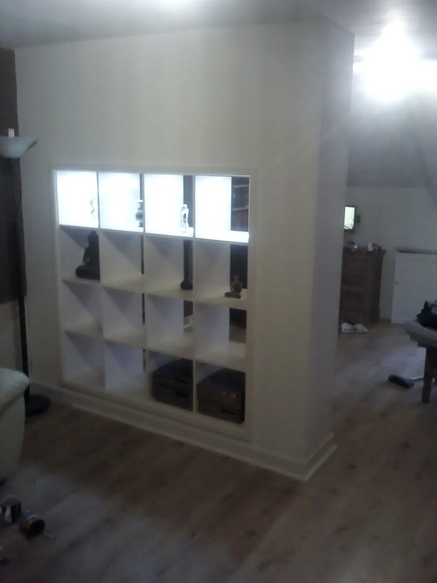 Expedit Built In Room Divider IKEA Hackers