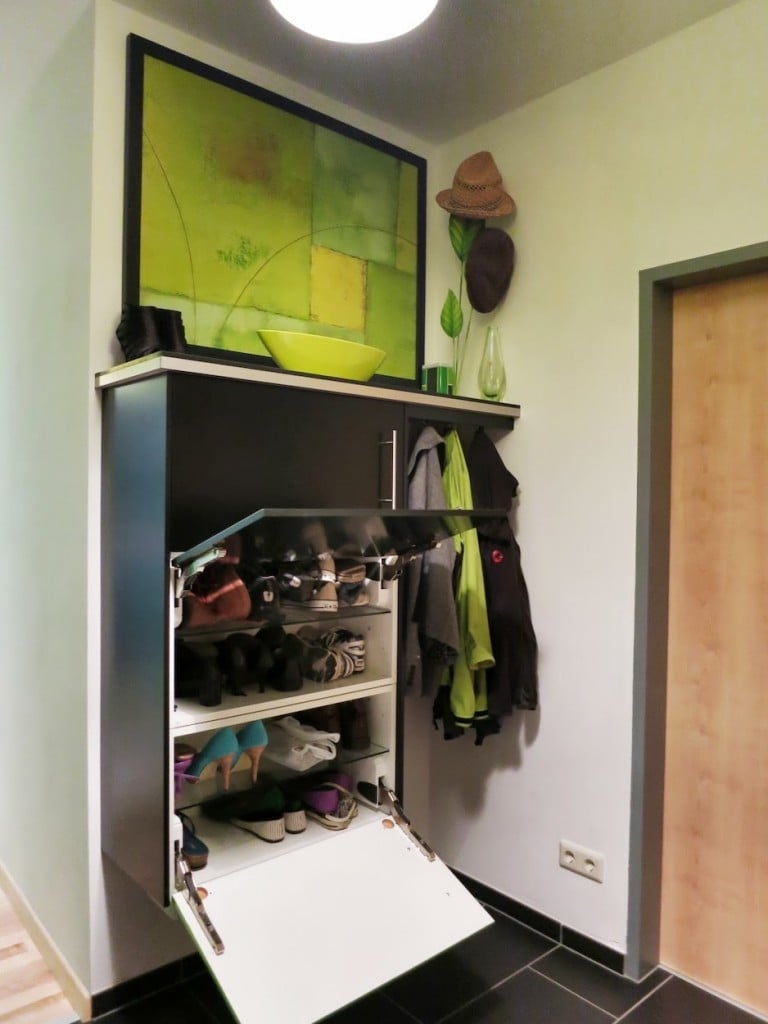kitchen cabinet to shoe storage