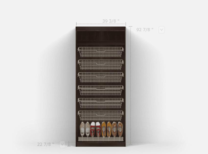 PAX wardrobe fail  built in better wire basket dresser