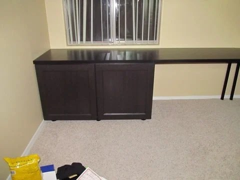 kitchen cabinets with legs maui hotels kitchens large desk besta - ikea hackers