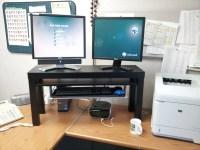 $25 Standing Desk Hack from Lack TV Unit, Summera - IKEA ...