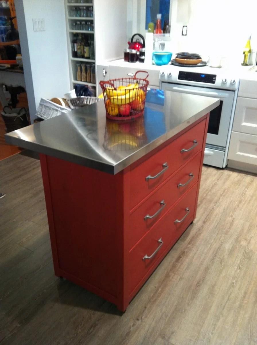 Kitchen Island with drawers An IKEA HEMNES hack  IKEA