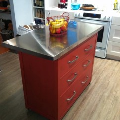 Small Rolling Kitchen Island Ideas And Designs With Drawers: An Ikea Hemnes Hack - ...