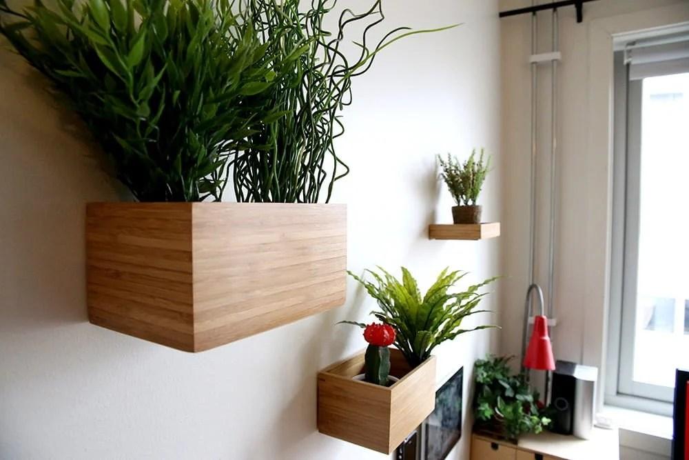 bamboo plant pot holder