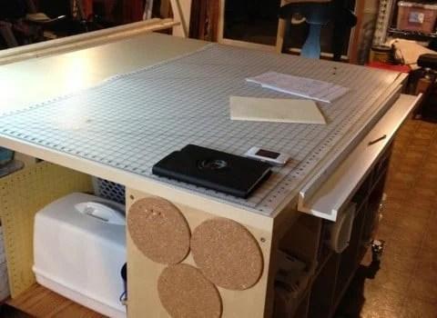 Craft Sewing Work Table Hack IKEA Hackers IKEA Hackers