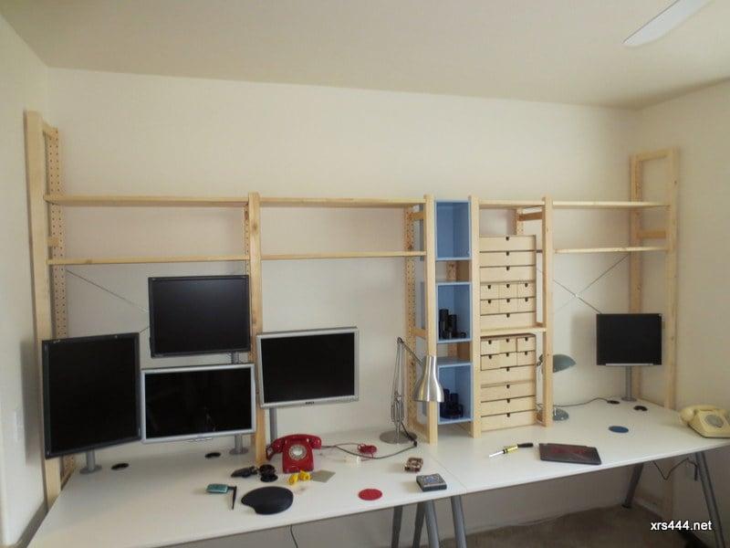 Desktop Shelving  IKEA Hackers