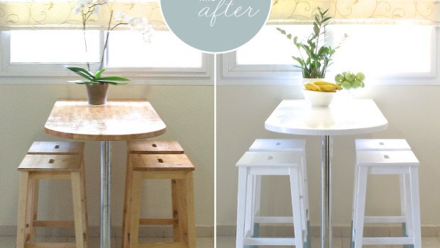 ikea kids table and chairs folding chair bed mini kitchen makeover: paint-dipped - hackers