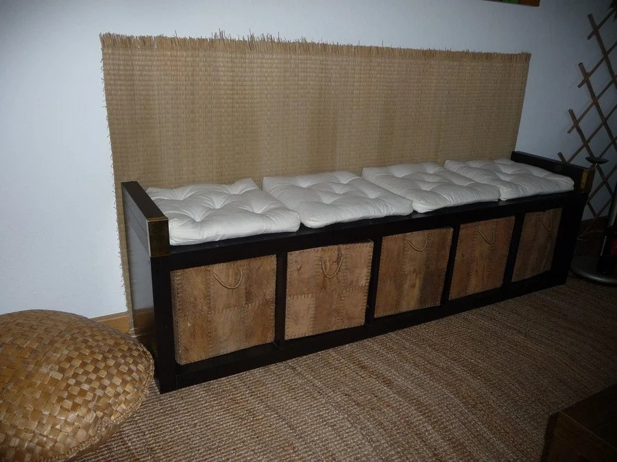 pimp a shelf to a bench ikea hackers. Black Bedroom Furniture Sets. Home Design Ideas