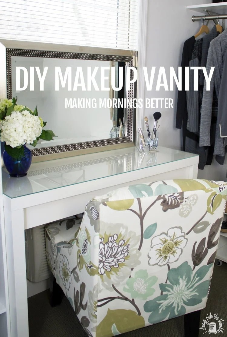 Good Morning Makeup Vanity with Hair Appliance Caddy