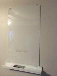White Glass Dry Eraser Board for $28 - IKEA Hackers - IKEA ...
