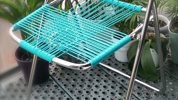 outdoor folding chair with side table tommy bahama lounge nisse turned to cord - ikea hackers