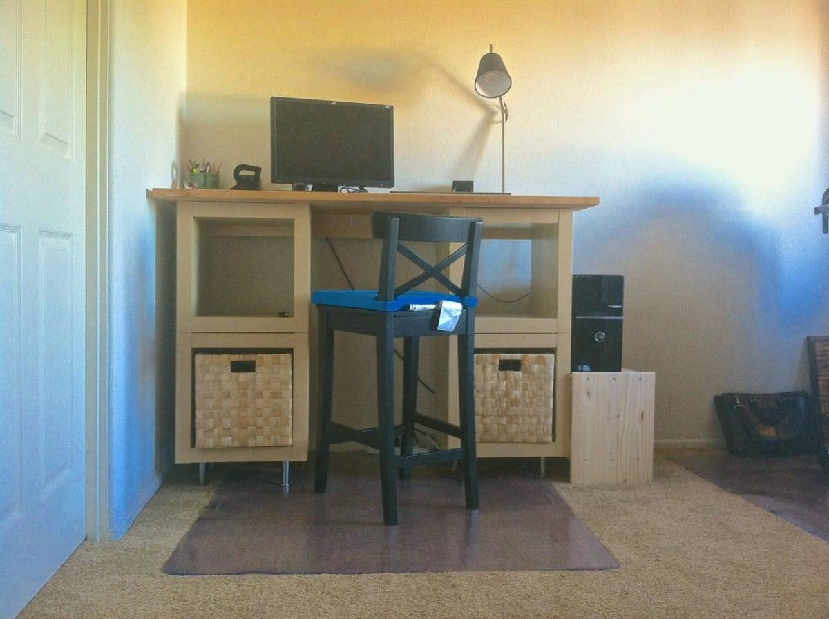 Varde Expedit Standing Desk For 165 Ikea Hackers